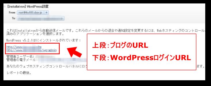 WordPressログイン情報メール