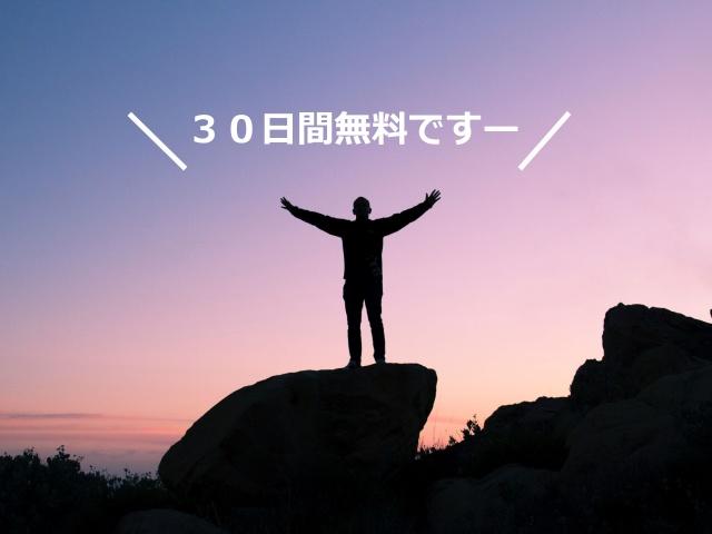 30日間無料